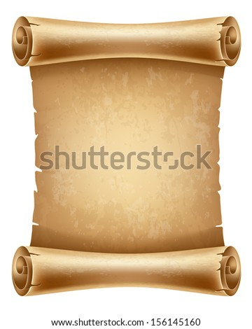 Vertical old scroll paper with space for your text - stock vector