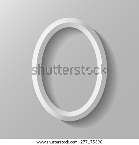 Vertical oval frame. - stock vector