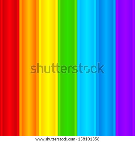 Vertical rainbow plastic stripes abstract vector seamless pattern - stock vector