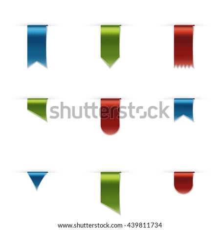 Vertical Satin Ribbons - stock vector