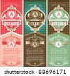 Vertical vintage Labels - stock vector
