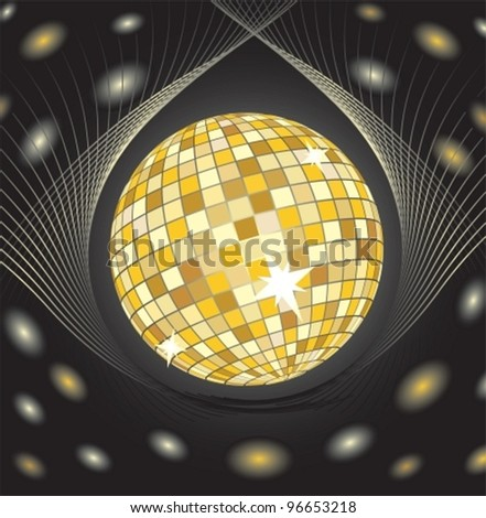 Very beautiful composition from mirrorball. Vector illustration. EPS8, all parts (object) closed, possibility to edit, without transparence. seamless - stock vector