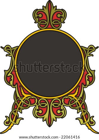 Very CLEAN and EXQUISITE color panel with ornamental elements. All vectors are ready for vinyl cutting as well. - stock vector