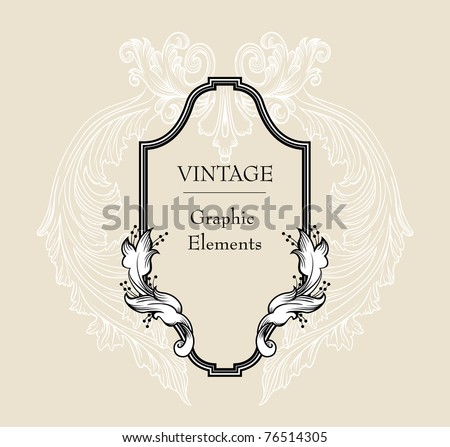 very cool vintage frame - stock vector