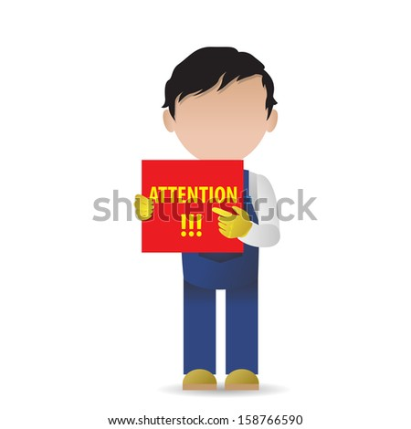 Very Detailed Drawn Transport Worker - Isolated On White Background - Vector Illustration, Graphic Design Editable For Your Design  - stock vector