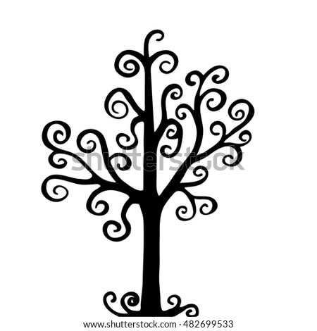 Very high quality original trendy  vector illustration of a magic tree
