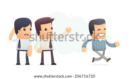 very satisfied customer. conceptual illustration - stock vector