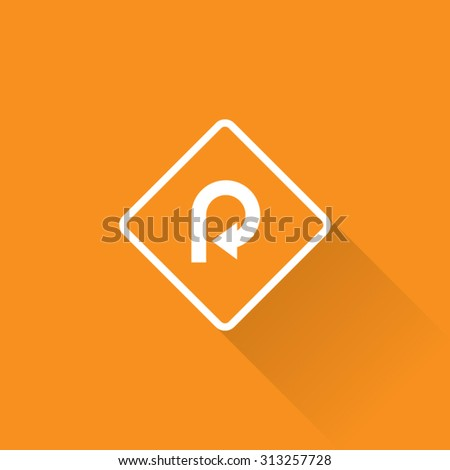 Very Sharp Curve Sign - stock vector