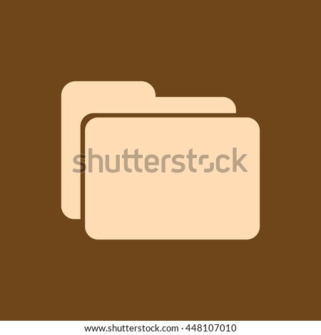 Very Useful Editable Vector icon of Folder on coffee color background. eps-10. - stock vector