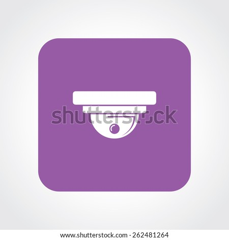 Very Useful Flat Icon of CCTV Camera. Eps-10. - stock vector