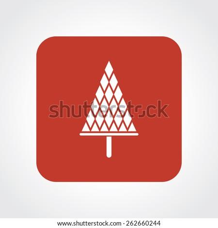 Very Useful Flat Icon of Christmas tree. Eps-10. - stock vector