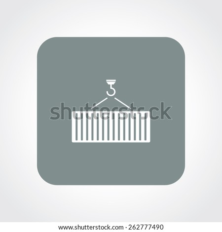 Very Useful Flat Icon of crane & container. Eps-10. - stock vector