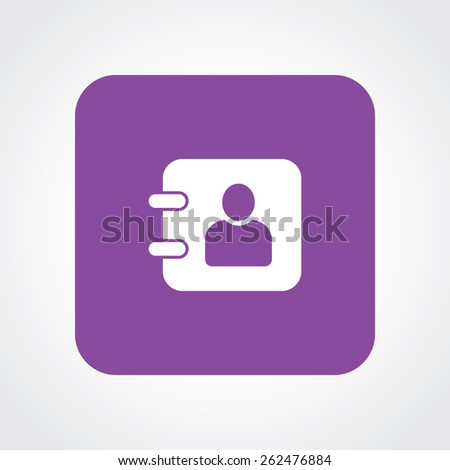 Very Useful Flat Icon of diary. Eps-10. - stock vector