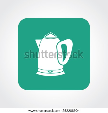 Very Useful Flat Icon of electric kettle. Eps-10. - stock vector
