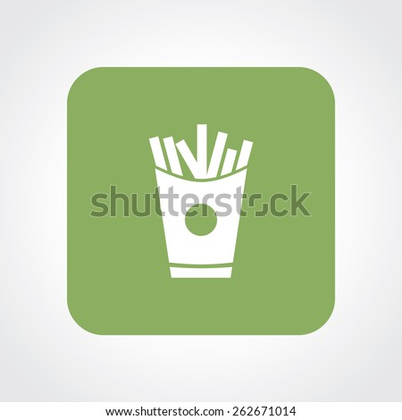 Very Useful Flat Icon of French Fries. Eps-10. - stock vector
