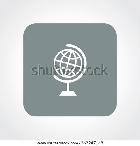 Very Useful Flat Icon of Globe. Eps-10. - stock vector