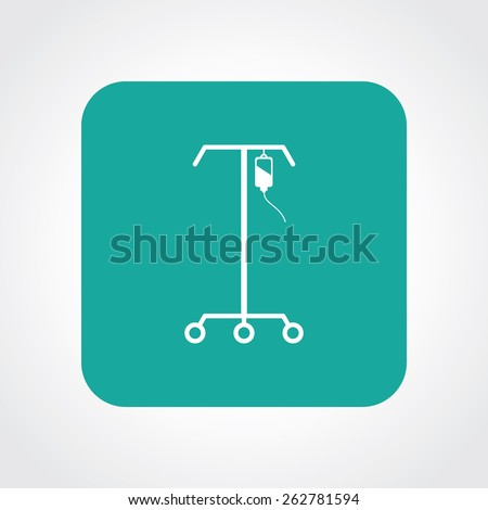 Very Useful Flat Icon of IV stand. Eps-10. - stock vector