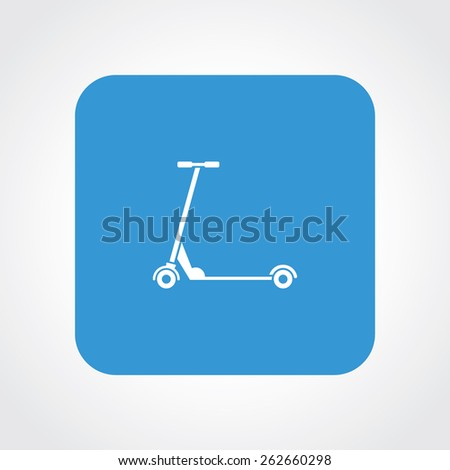 Very Useful Flat Icon of kids scooter. Eps-10. - stock vector