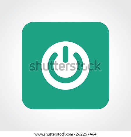 Very Useful Flat Icon of power. Eps-10. - stock vector
