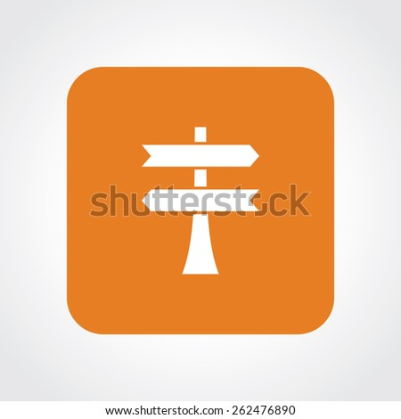 Very Useful Flat Icon of Road blank sign. Eps-10. - stock vector