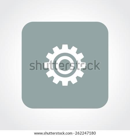 Very Useful Flat Icon of Setting. Eps-10. - stock vector