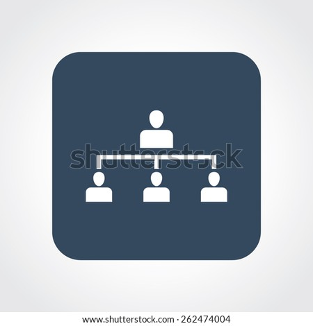 Very Useful Flat Icon of team. Eps-10. - stock vector