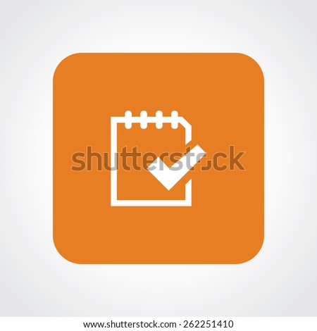 Very Useful Flat Icon of to do. Eps-10. - stock vector