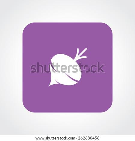 Very Useful Flat Icon of Turnip. Eps-10. - stock vector