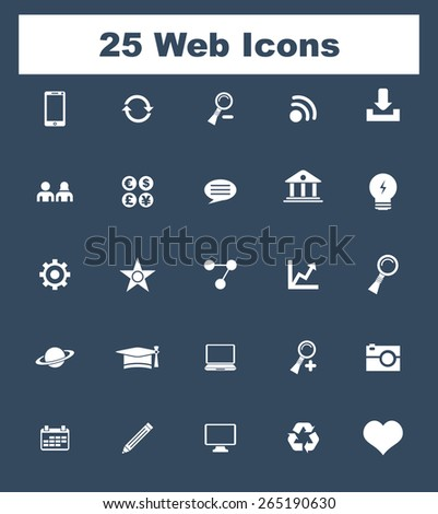 Very Useful Flat Web Icons on UI Colors. Eps-10.