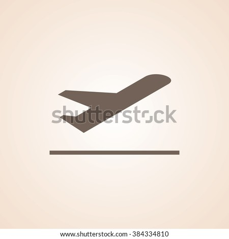 Very Useful Icon of Airplane for Web & Mobile. Eps-10. - stock vector