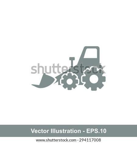 Very Useful Icon Of Bulldozer. Eps-10. - stock vector