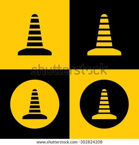 Very Useful Icon Of Construction Cone. Eps-10.