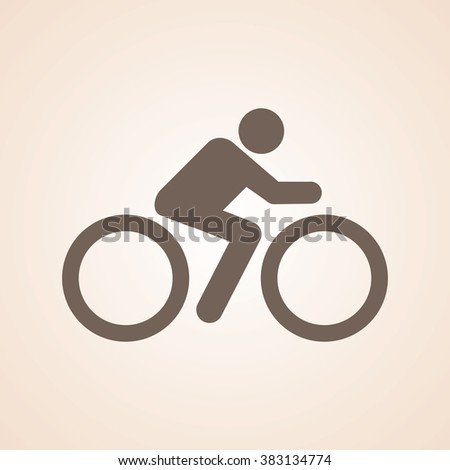Very Useful Icon of Cyclist for Web & Mobile. Eps-10. - stock vector