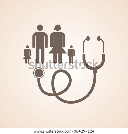 Very Useful Icon of Family Doctor for Web & Mobile. Eps-10. - stock vector