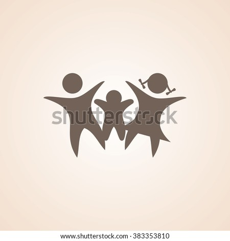 Very Useful Icon of Family for Web & Mobile. Eps-10. - stock vector