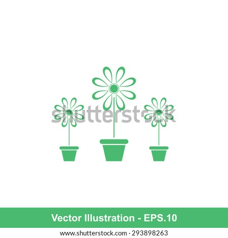Very Useful Icon Of Flower Vase. Eps-10.
