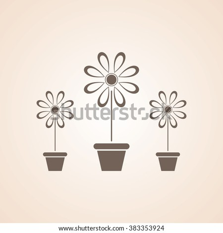 Very Useful Icon of Flower Vase for Web & Mobile. Eps-10.