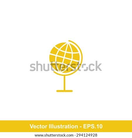Very Useful Icon Of Globe. Eps-10. - stock vector