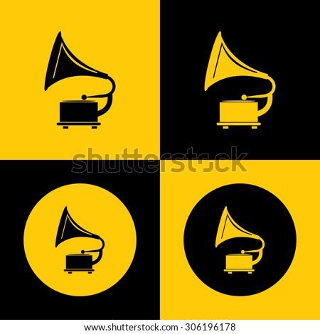 Very Useful Icon of gramophone - stock vector