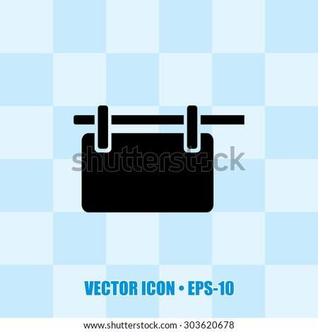 Very Useful Icon Of Hanging Billboard. Eps-10. - stock vector