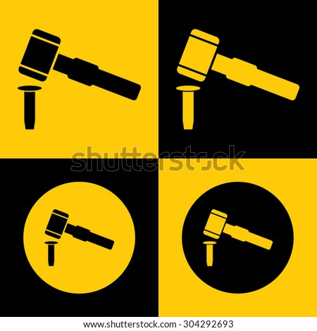 Very Useful Icon Of Judge Hammer. Eps-10.