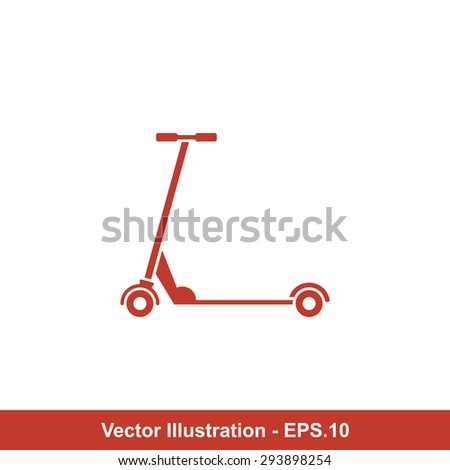 Very Useful Icon Of Kids Scooter. Eps-10.