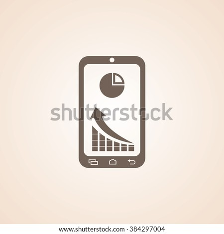 Very Useful Icon of Market Status on Mobile or Tablet Phone for Web & Mobile. Eps-10. - stock vector