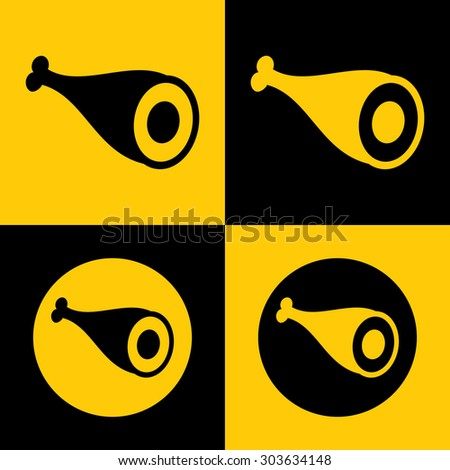 Very Useful Icon Of Meat. Eps-10. - stock vector