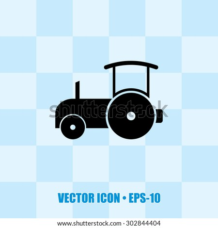 Very Useful Icon Of Road Roller. Eps-10. - stock vector