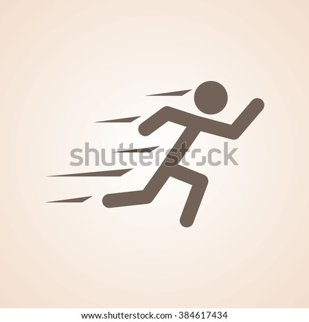Very Useful Icon of Runner for Web & Mobile. Eps-10. - stock vector