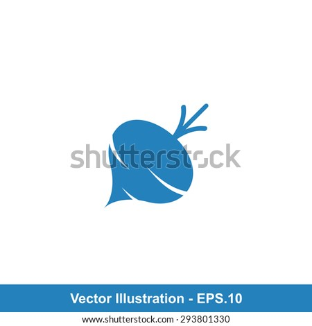 Very Useful Icon Of Turnip. Eps-10. - stock vector