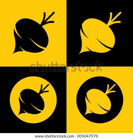 Very Useful Icon Of Turnip. Eps-10. - stock vector