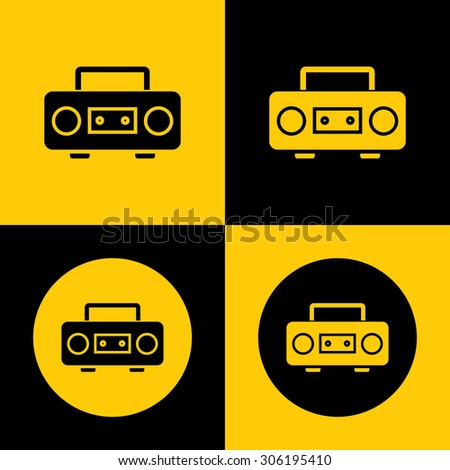Very Useful Vector Icon Of Cassette Player. Eps-10. - stock vector