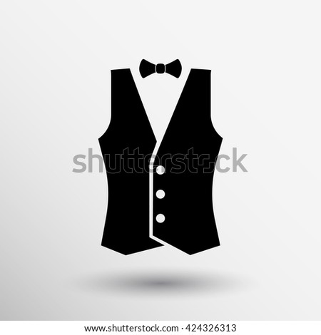 Vest vector icon clothing style clothes uniform logo